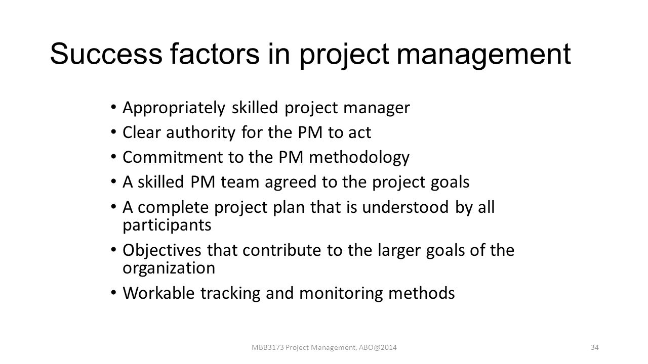 critical success factors of pm Learn about the five factors we have identified as essential for project management improvement in any organization.