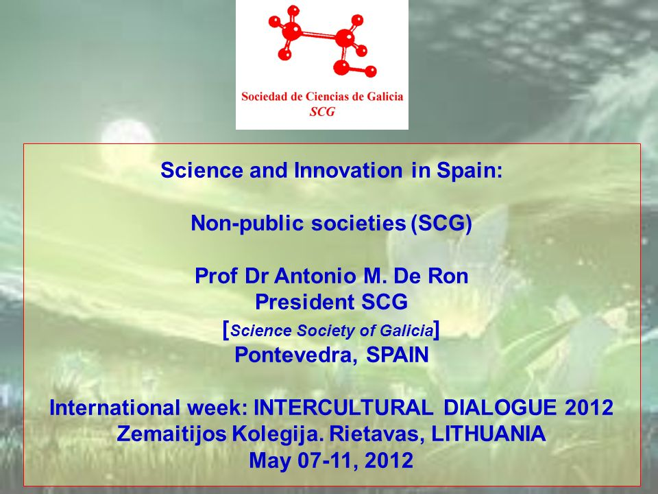 Science and Innovation in Spain: