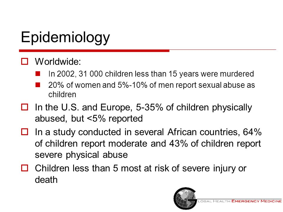 Epidemiology Worldwide: