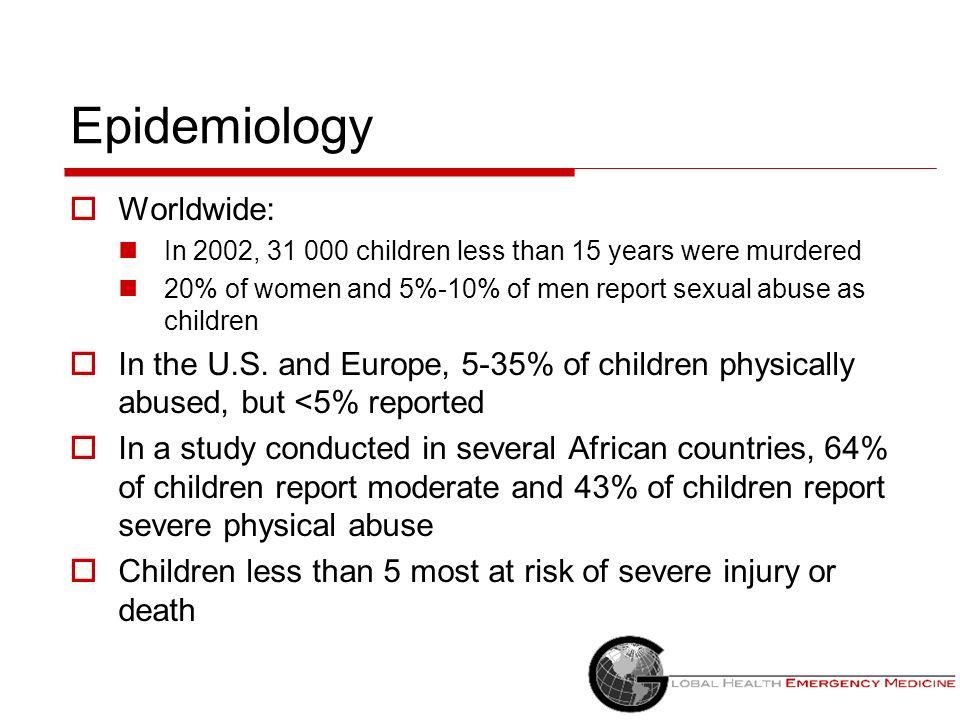 Epidemiology Worldwide: