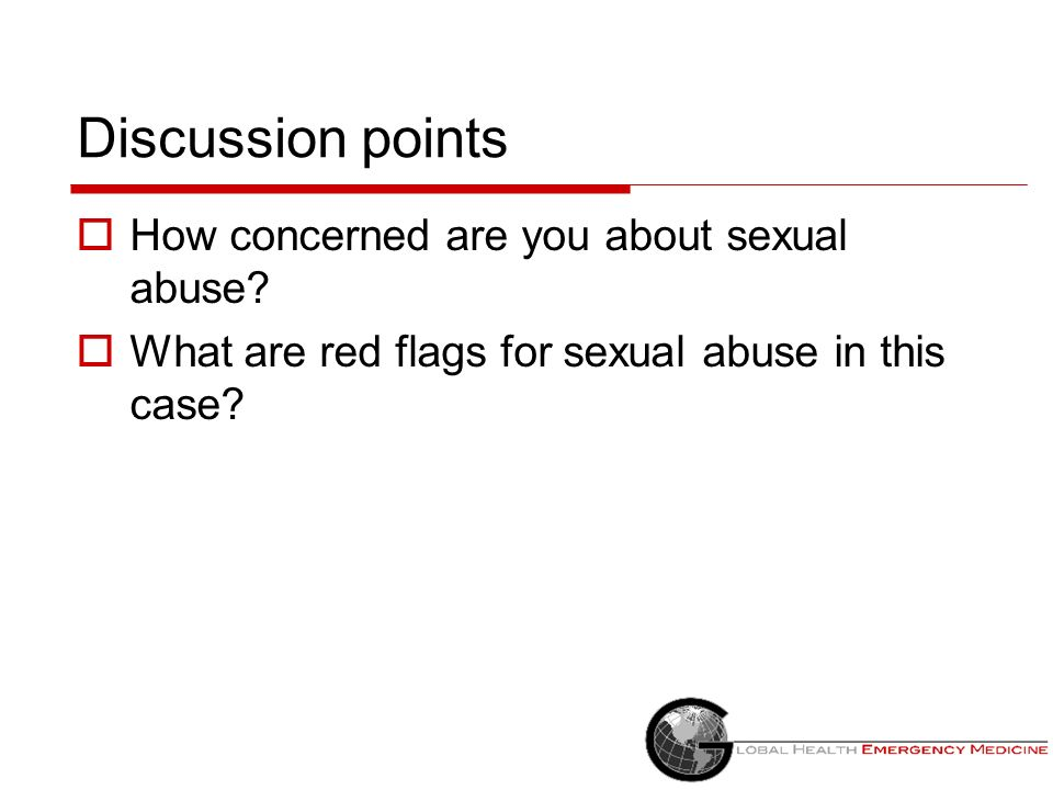 Discussion points How concerned are you about sexual abuse