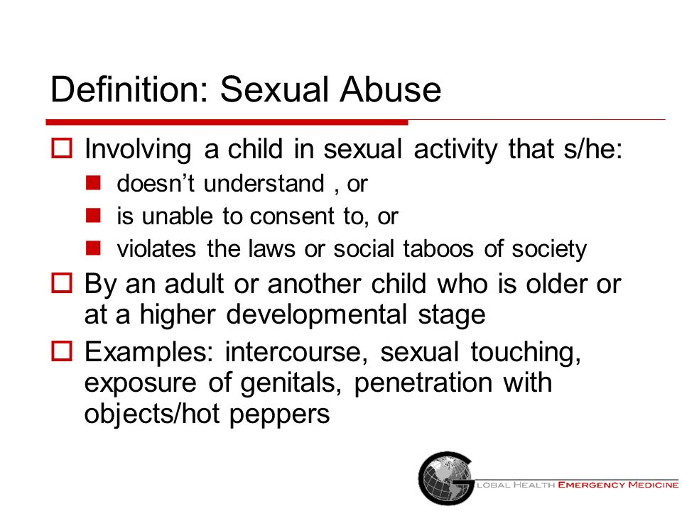 Definition: Sexual Abuse