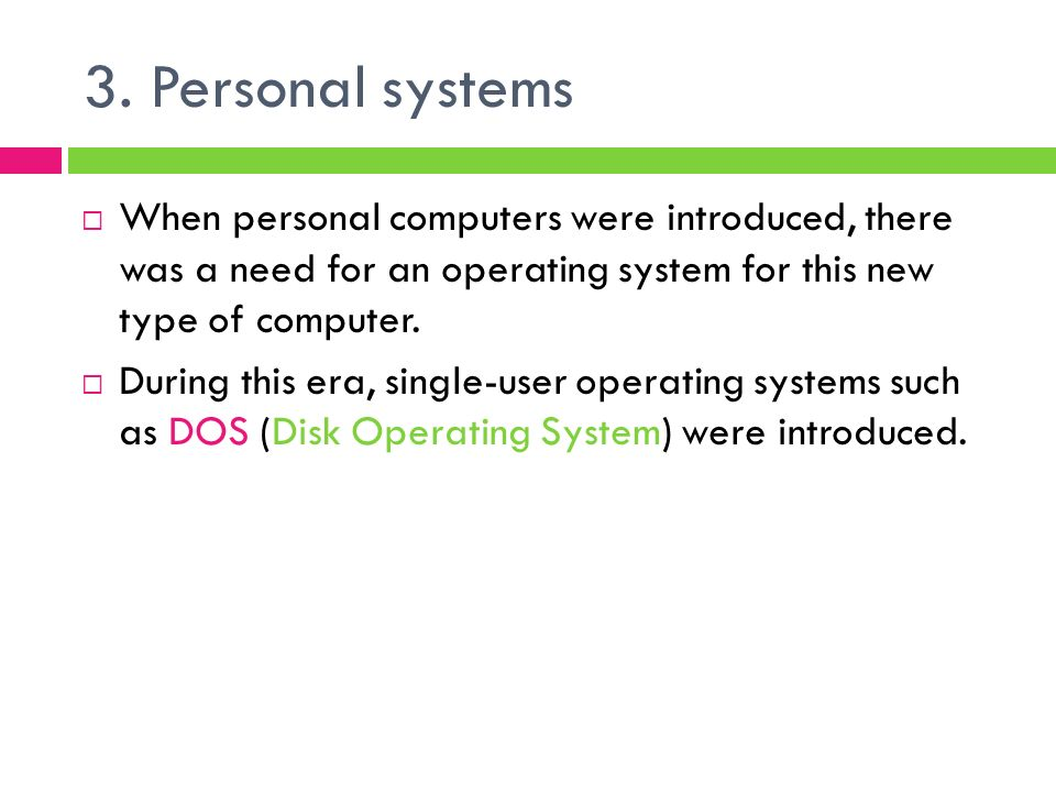 The new eras operating systems essay