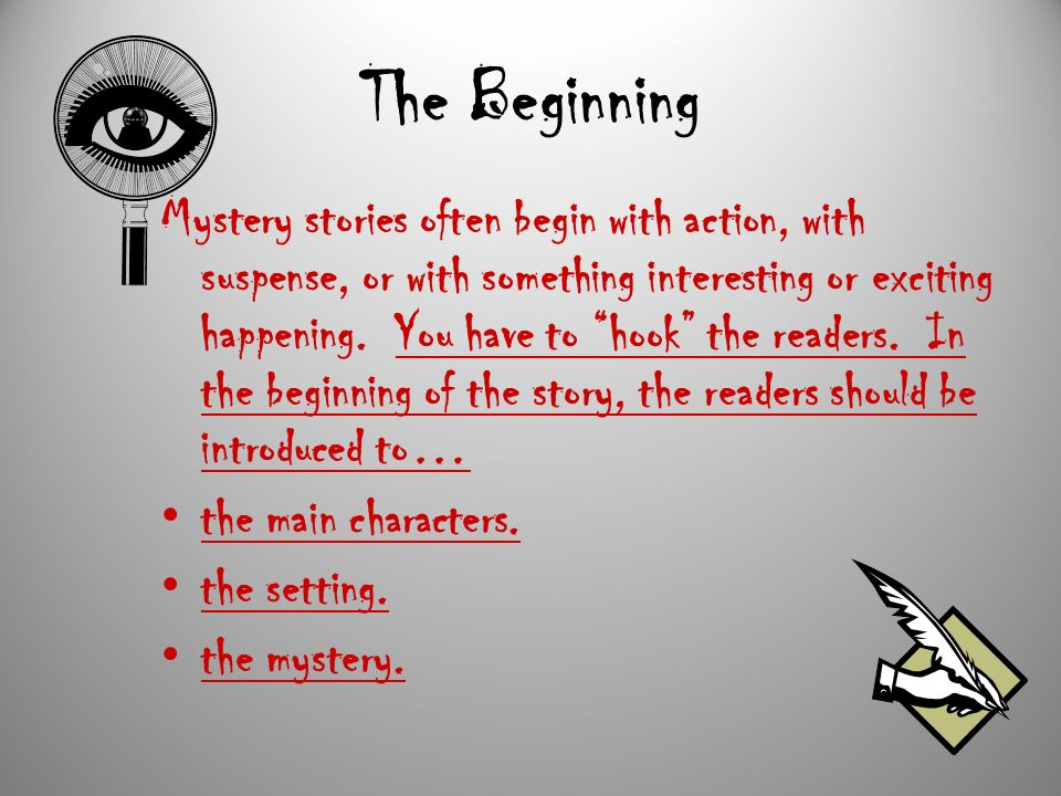 how to create a mystery story