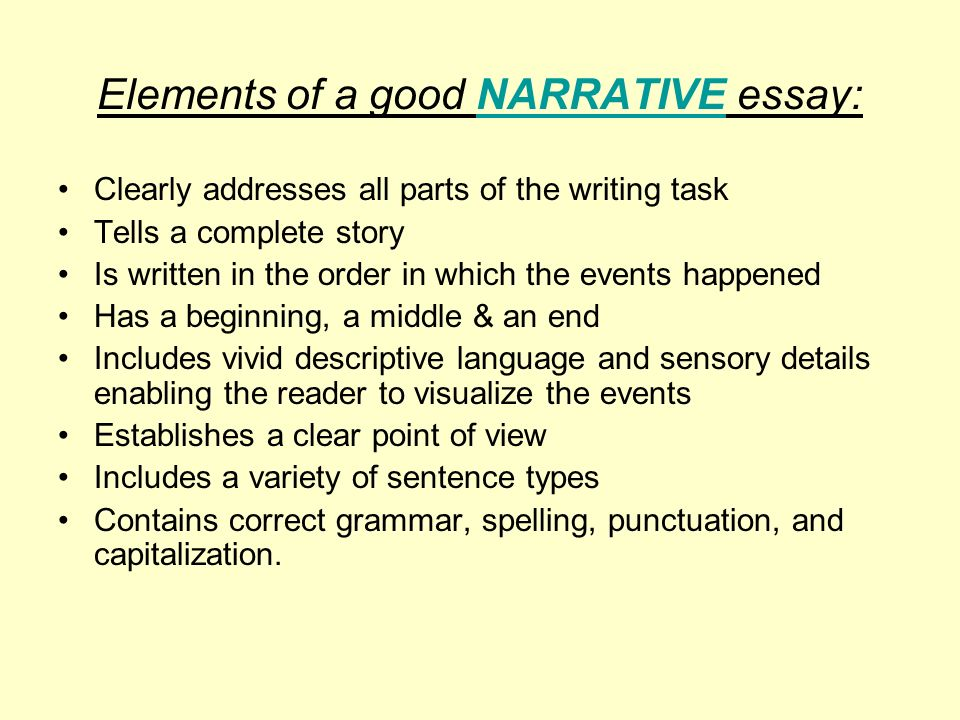 the california writing exam grades and ppt video online elements of a good narrative essay