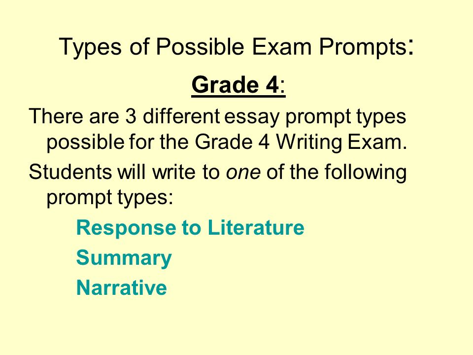 grade 4 essay questions Expression and sophistication of vocabulary are taken into account in the grade  community as some topics may not be appropriate  100 essay and journal topics.
