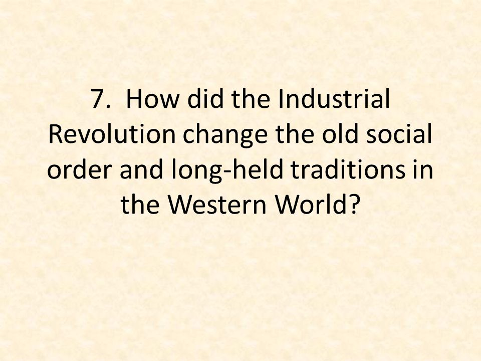 how did the industrial revolution improve society