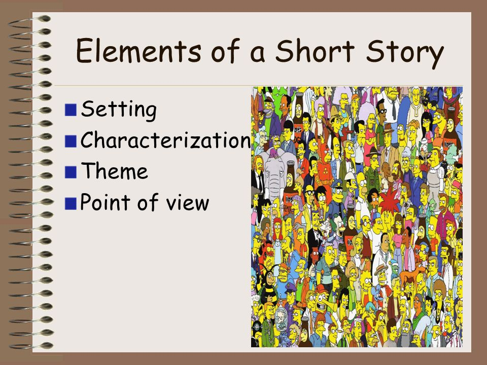 theme and elements of a short The short stories for teaching theme bundle contains five complete short story units you'll find lesson plans aligned to the common core, graphic organizers, rubrics, quizzes, summaries.