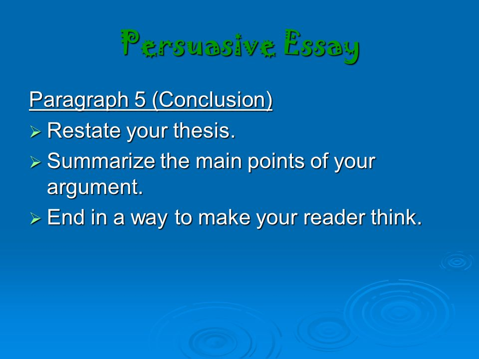 ways to conclude your essay Non fiction essay ways to conclude an essay essay intro help buy thesis skins  custom paper written the way you want it your academic success is dependent on high-quality custom papers if you have any assignment that needs to.