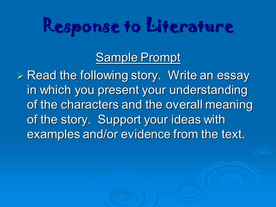 Response to literature essay examples