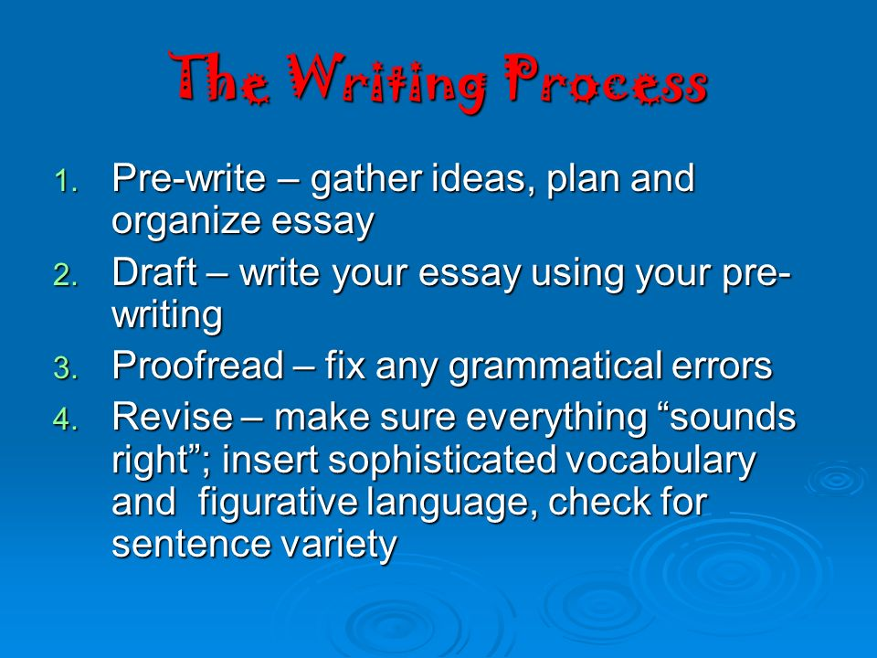 process analysis essay vocabulary Transitions words for process analysis essay transition words (indicating time) after a few hours, immediately following, afterwards, initially, at last in the end.