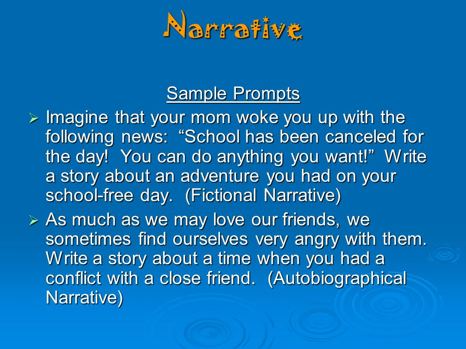 adventure narrative essay Morgan, kori what makes an effective narrative   a description of a narrative essay karen lobello how to write an adventure story.