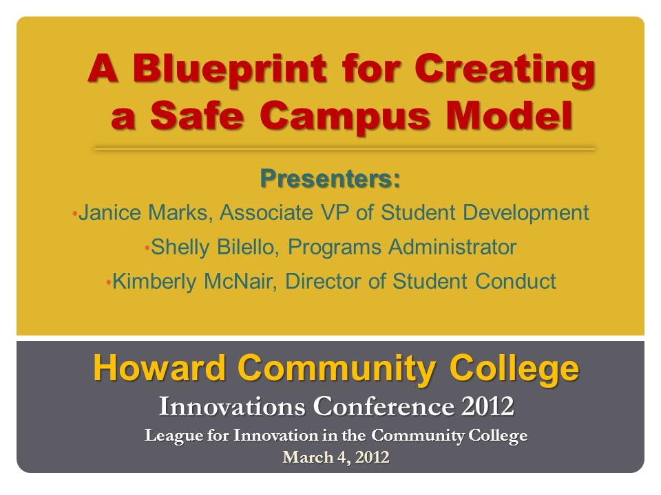 A blueprint for creating a safe campus model ppt video online a blueprint for creating a safe campus model malvernweather Image collections