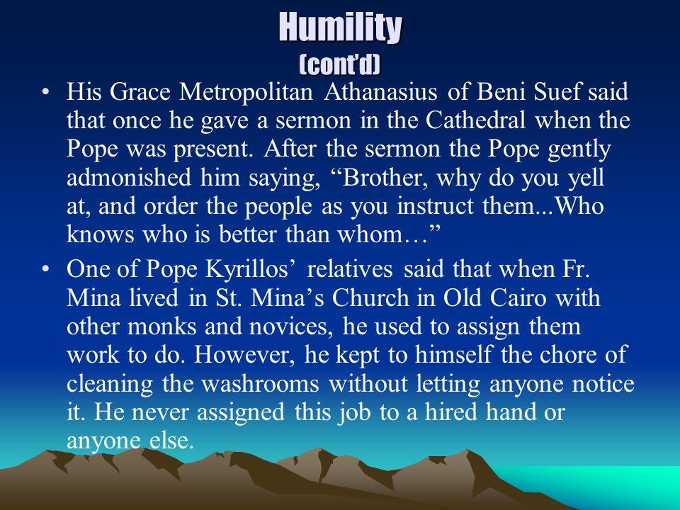Humility (cont'd)