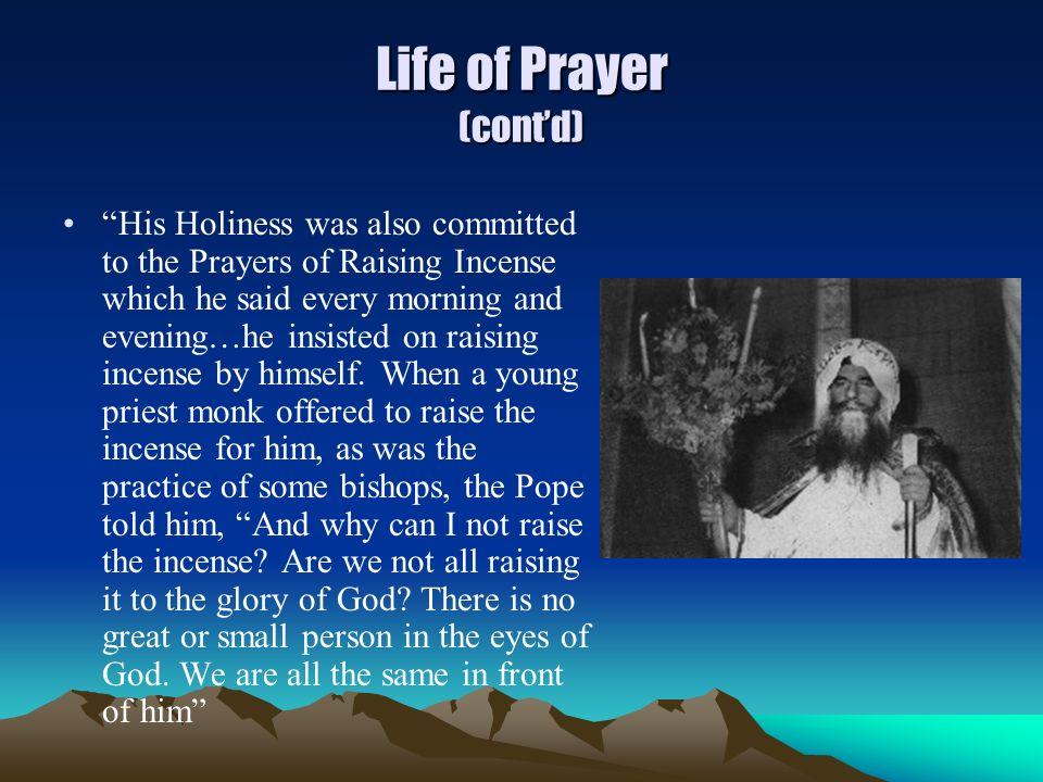 Life of Prayer (cont'd)
