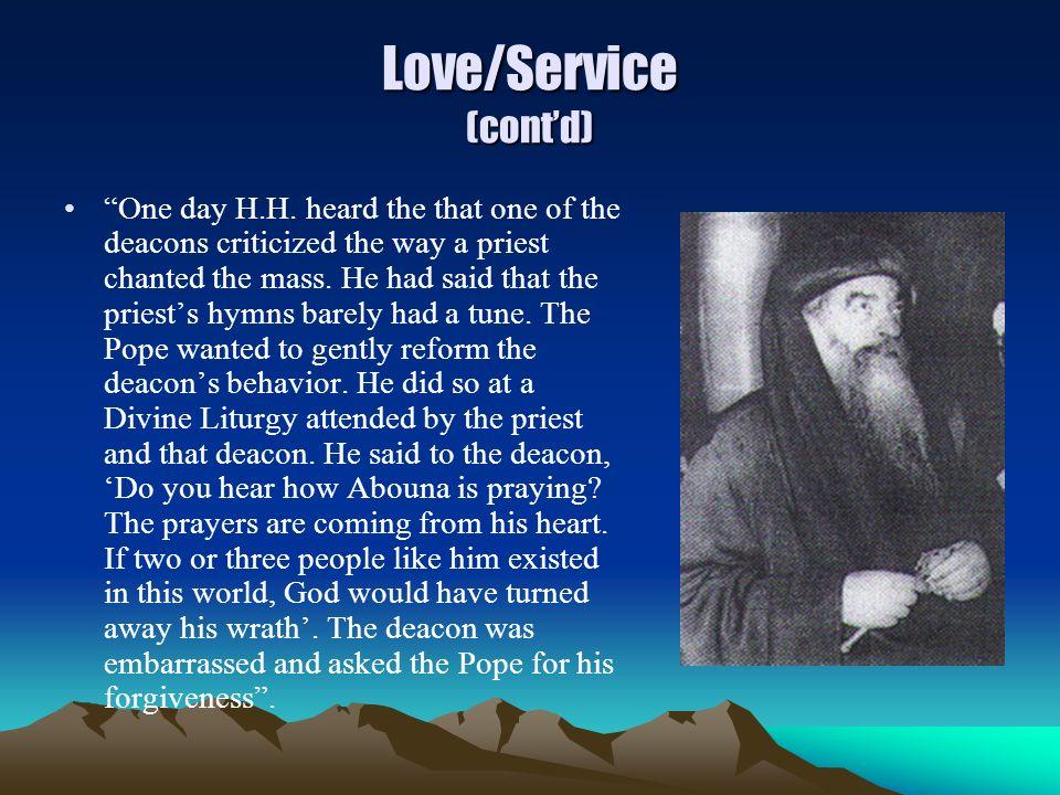 Love/Service (cont'd)