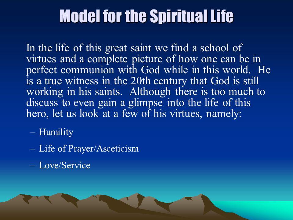 Model for the Spiritual Life