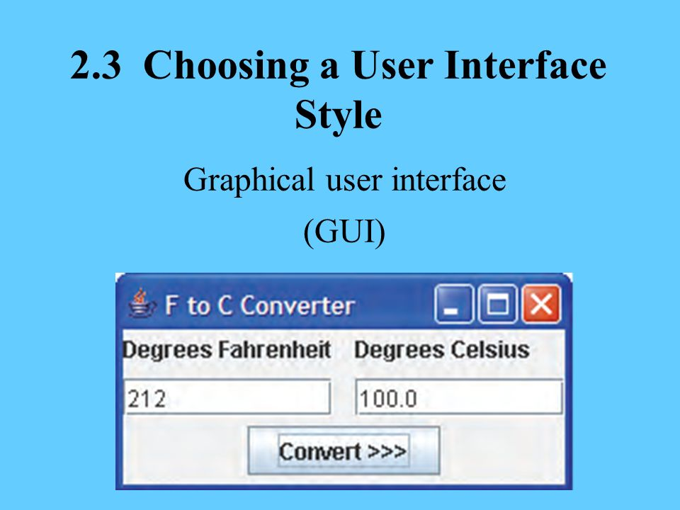how to create gui in java using model and interface
