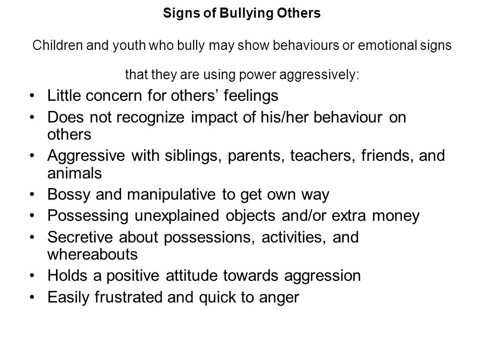 Little concern for others' feelings
