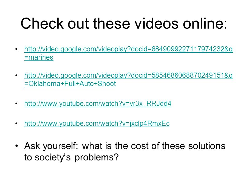 Check out these videos online: