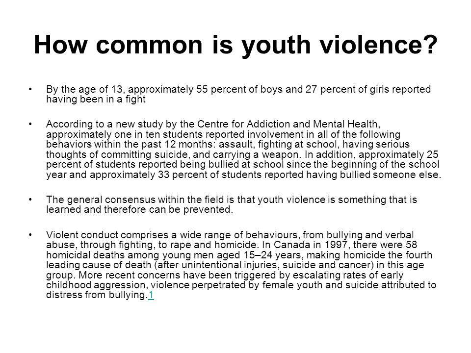 How common is youth violence