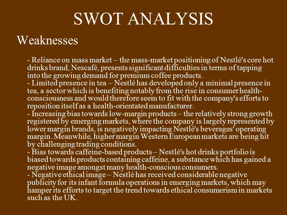 swot analysis of pacific coffee Pacific coffee company ltd - company profile & swot analysis, is a source of comprehensive company data and information the report covers the company's structure, operation, swot analysis, product and service offerings and corporate actions, providing a 360˚ view of the company.