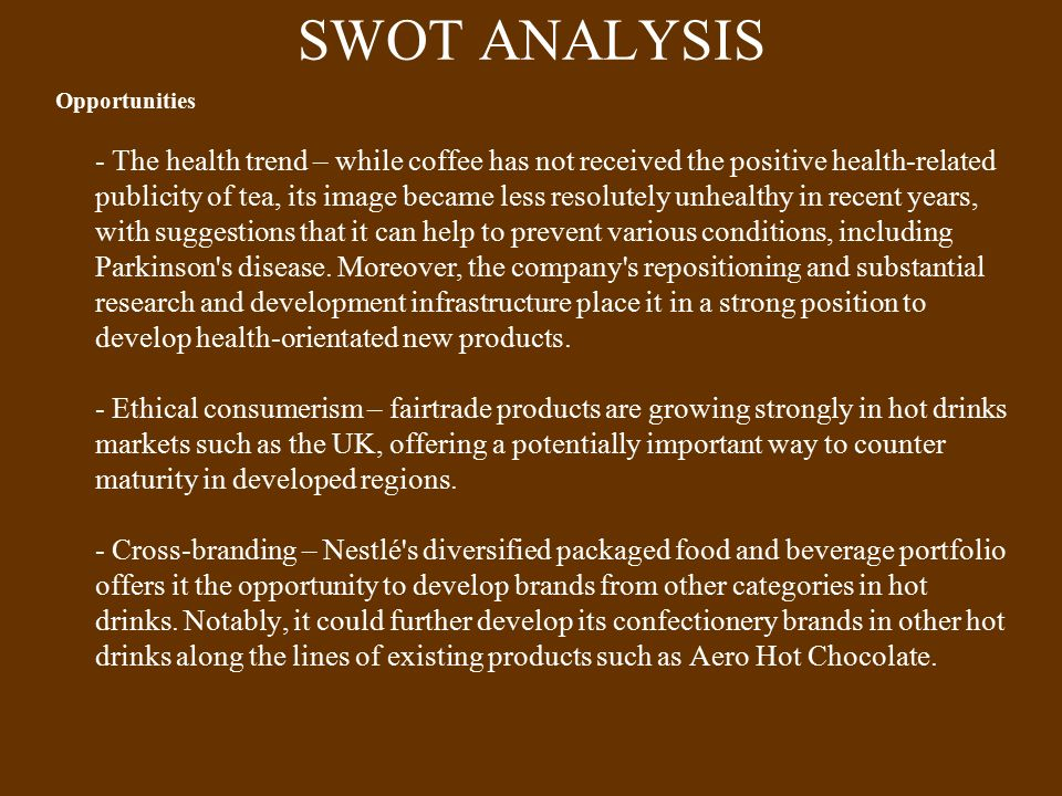 swot analysis chocolate confectionery Swot analysis of presented to: swot analysis of cadbury by uma ganesh 1 swot a few facts and figures ♣ they make and sell three kinds of confectionery: chocolate, gum and candy ♣ they operate in over 60 countries.
