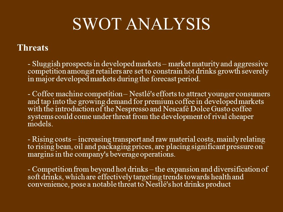Nespresso Marketing analysis - SWOT & Strategy