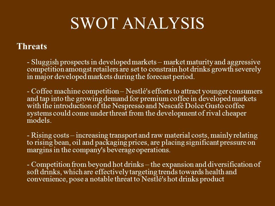 swot on nespresso weaknesses La démarche couramment appelée swot correspond à « strenghts, weaknesses, opportunities, treats » soit forces,  etude de cas nespresso.