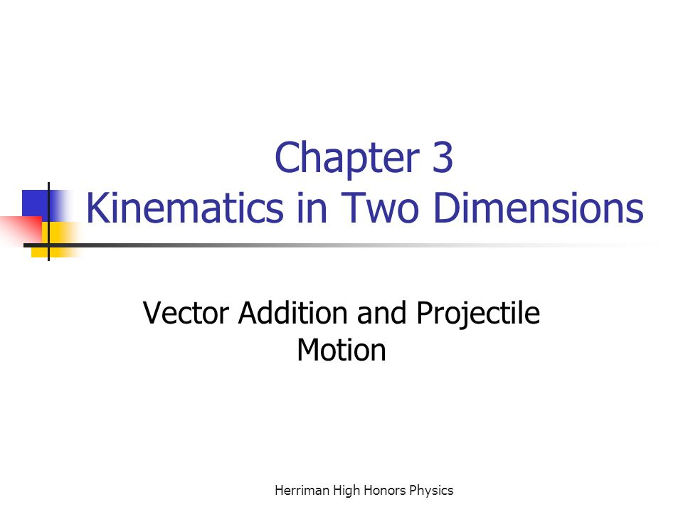 Chapter 3 Kinematics in Two Dimensions