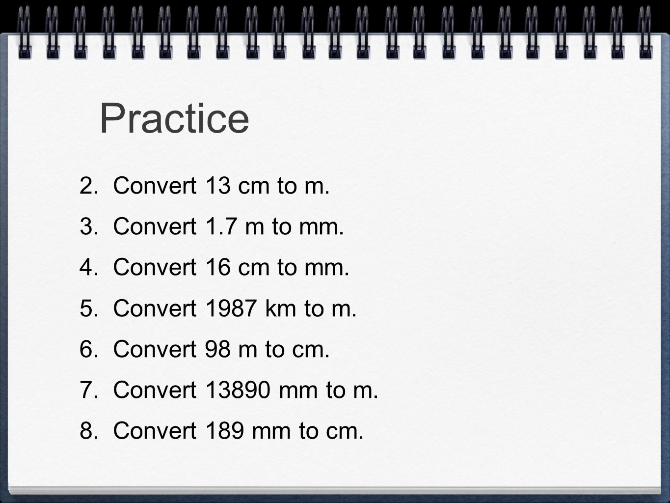 Measurement and dimensional analysis ppt video online download practice convert 13 cm to m convert 17 m to mm convert 16 cm nvjuhfo Images