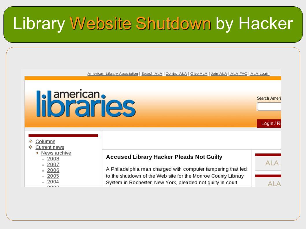 Library Website Shutdown by Hacker