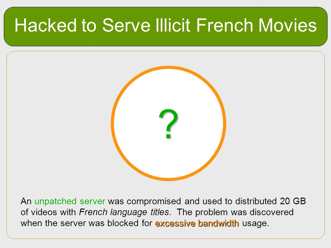 Hacked to Serve Illicit French Movies