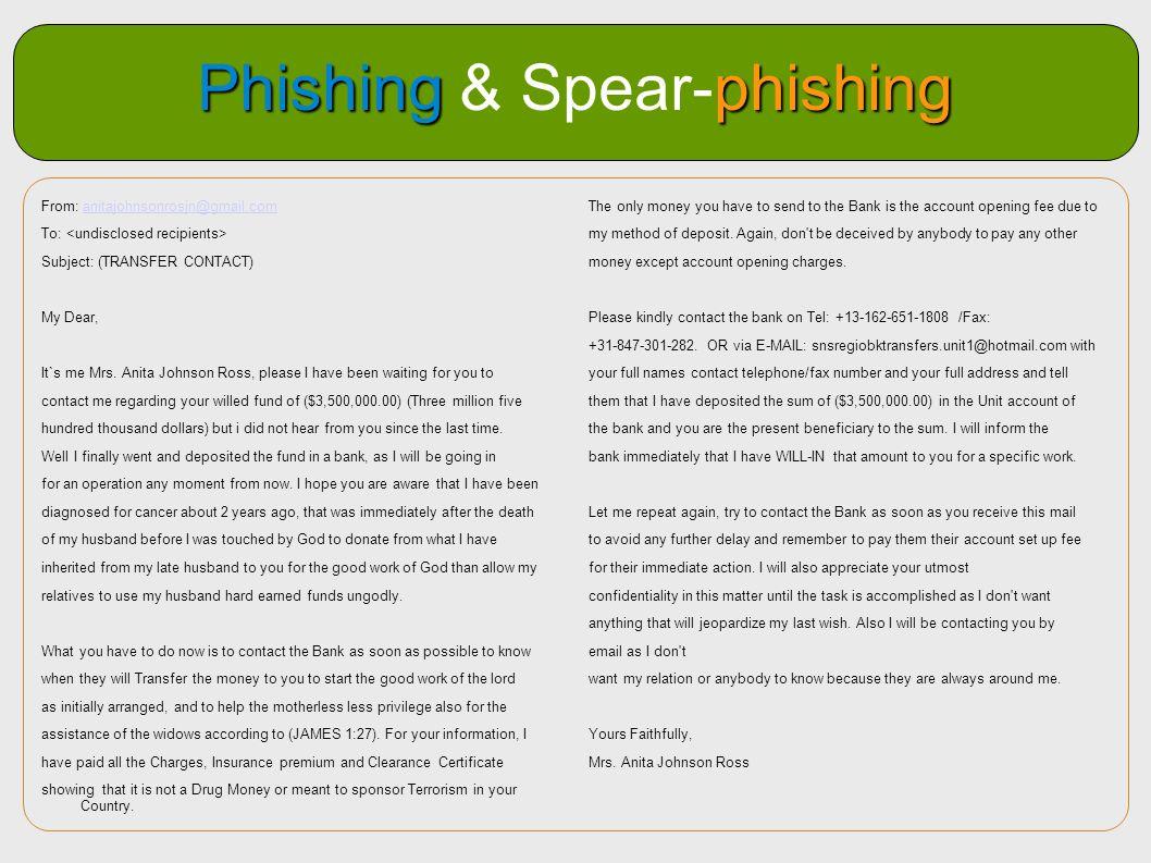 Phishing & Spear-phishing