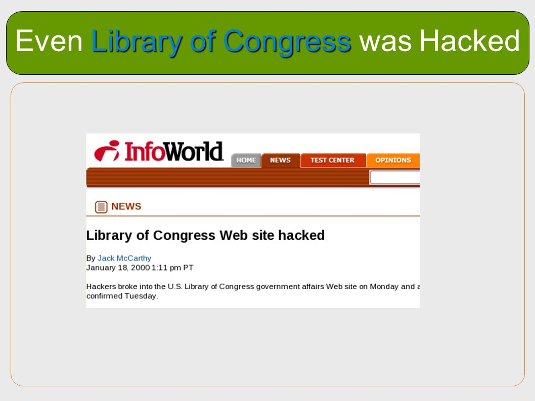 Even Library of Congress was Hacked