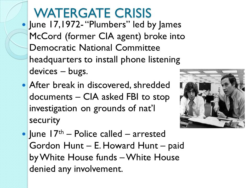 the watergate crisis Display your knowledge of watergate with this quiz and printable worksheet use the practice questions to see what information you know prior to.