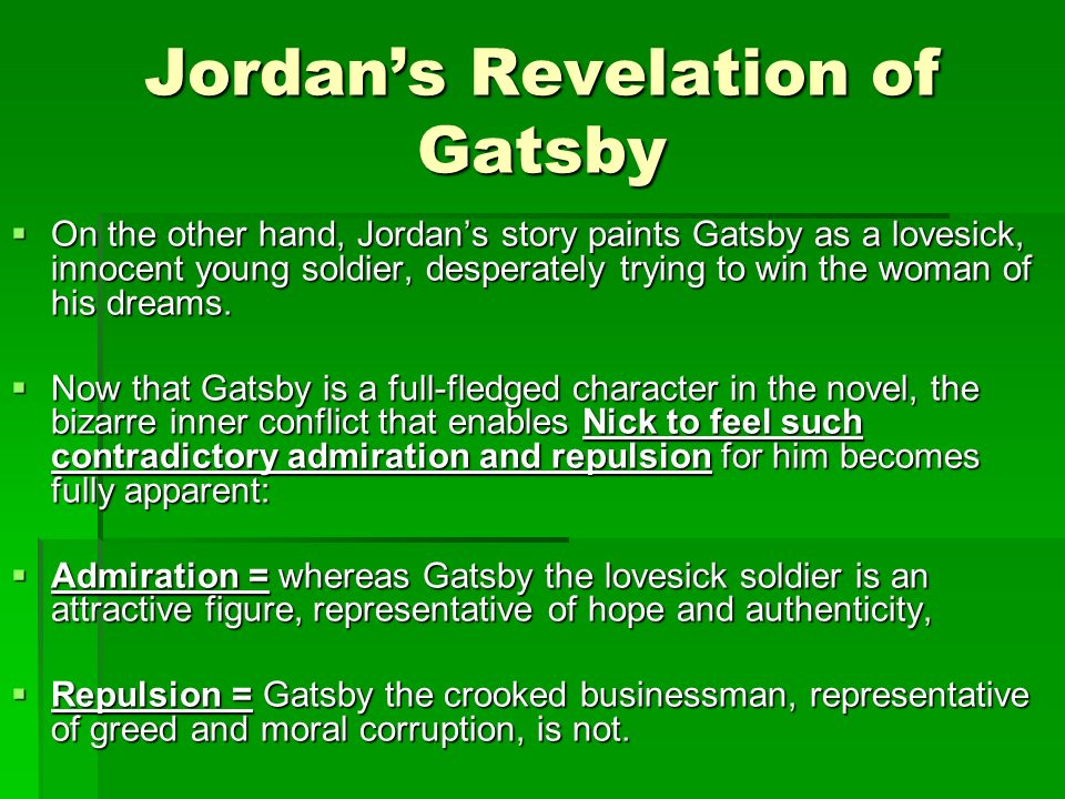 analysis of gatsby s failure at the Analysis chapter 5 is the pivotal chapter of the great gatsby, as gatsby's reunion with daisy is the hinge on which the novel swings before this event, the story .