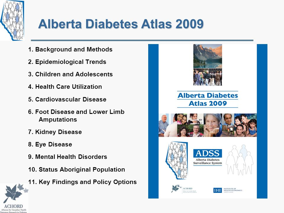 Alberta Diabetes Atlas 2009