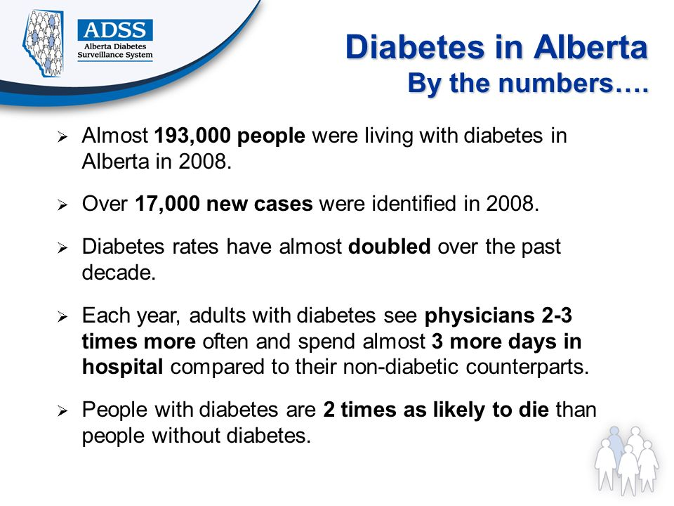 Diabetes in Alberta By the numbers….