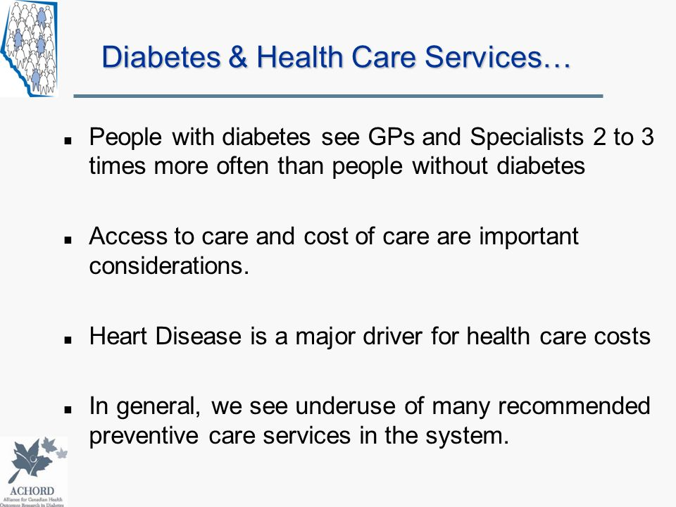 Diabetes & Health Care Services…