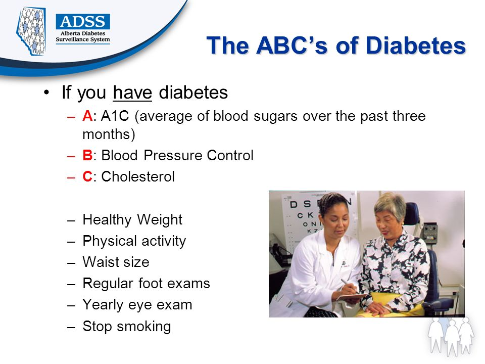 The ABC's of Diabetes If you have diabetes