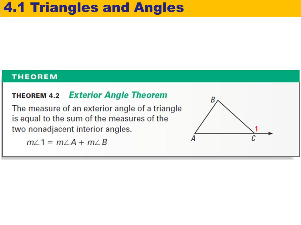 4 1 Triangles And Angles Warm Up Lesson Presentation