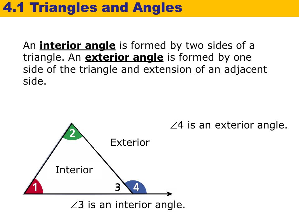 how to find the interior angle of a isosceles triangle