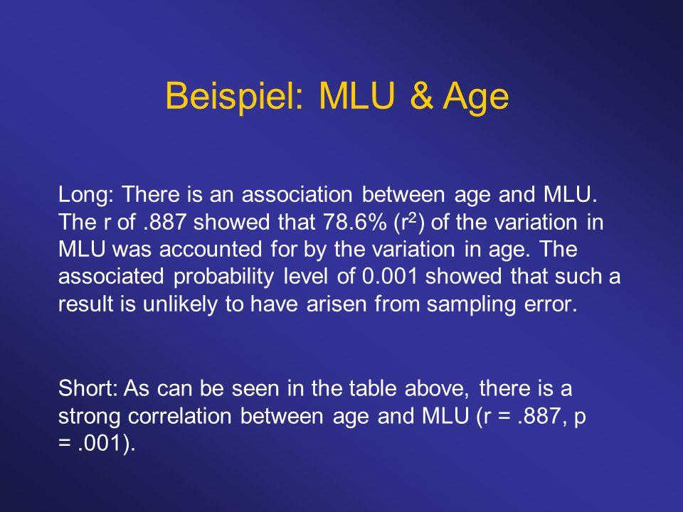 Beispiel: MLU & Age