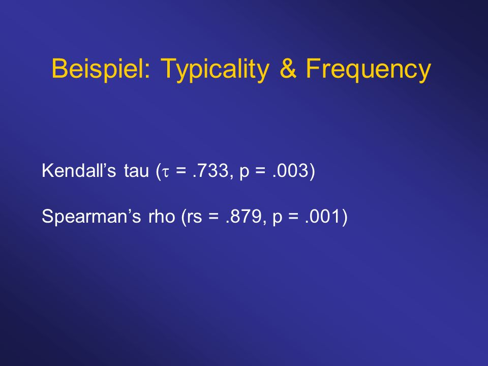 Beispiel: Typicality & Frequency
