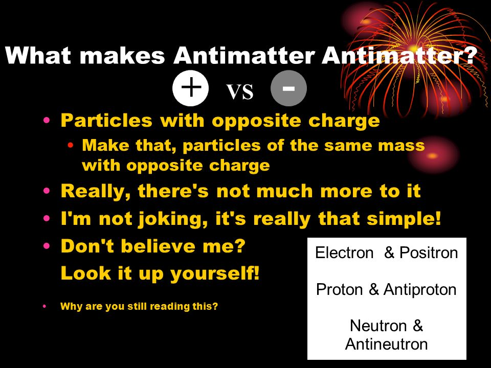 antimatter  an antiproject