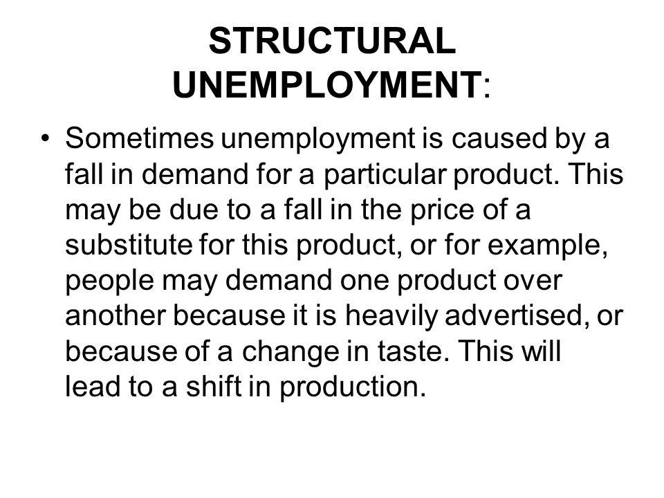 STRUCTURAL UNEMPLOYMENT: