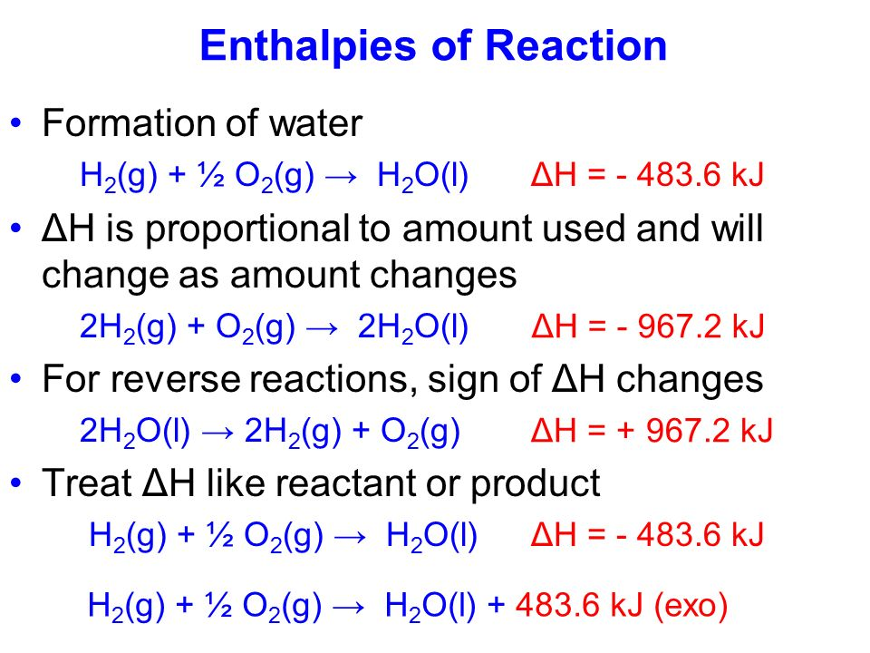 how to find the enthalpy of reaction
