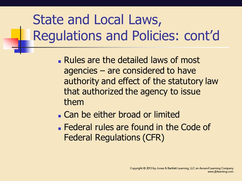 local state and federal laws and Federal, state and local laws related to alcohol and other drugs.