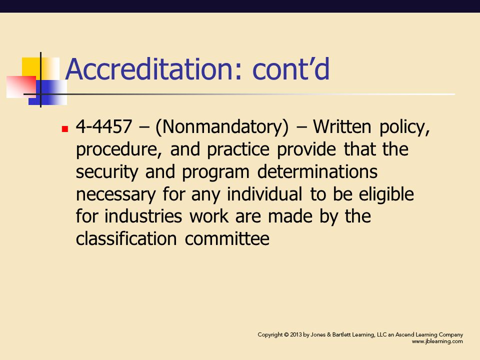 Corrections accreditation and privatization paper